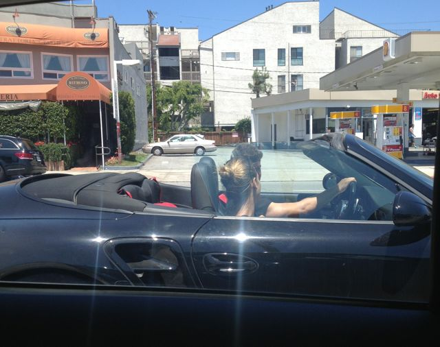 robin thicke spotted through the window of the mitsubishi mirage