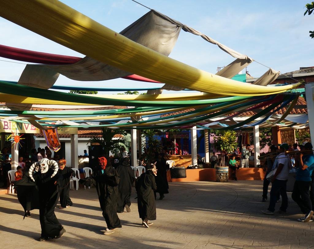 unusual sights in managua nicaragua children dancing in costumes