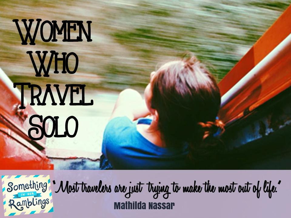 women who travel solo Mathilda Nassar