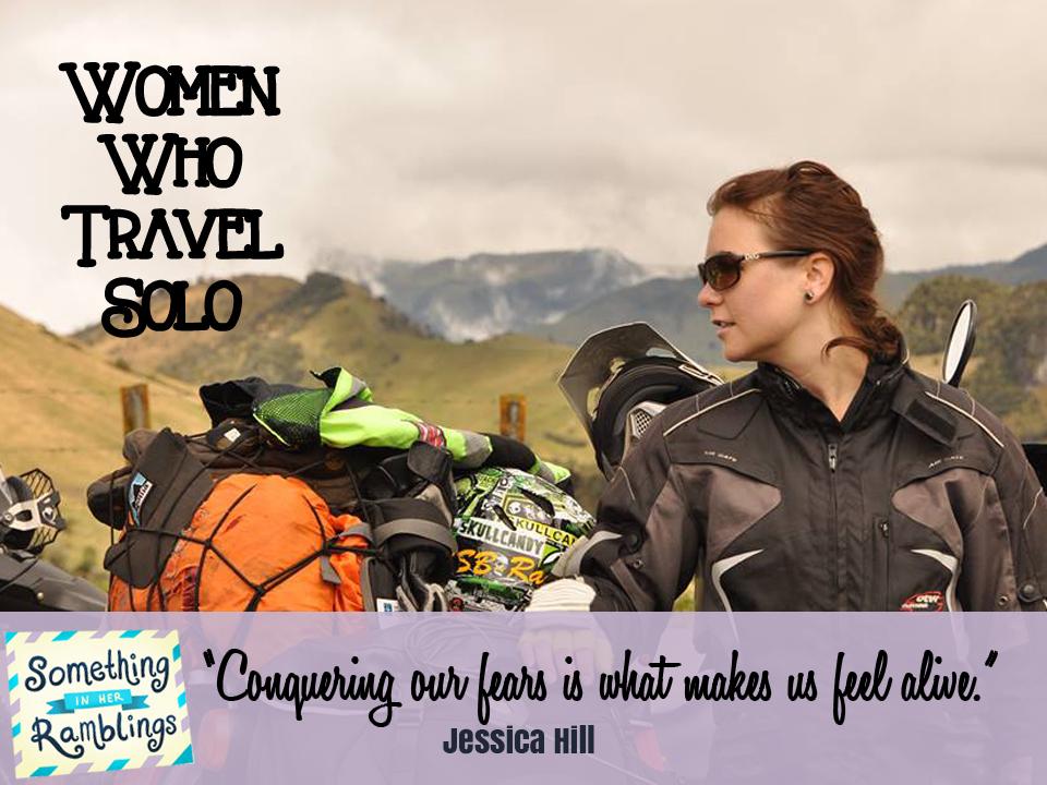 women who travel solo Jessica Hill
