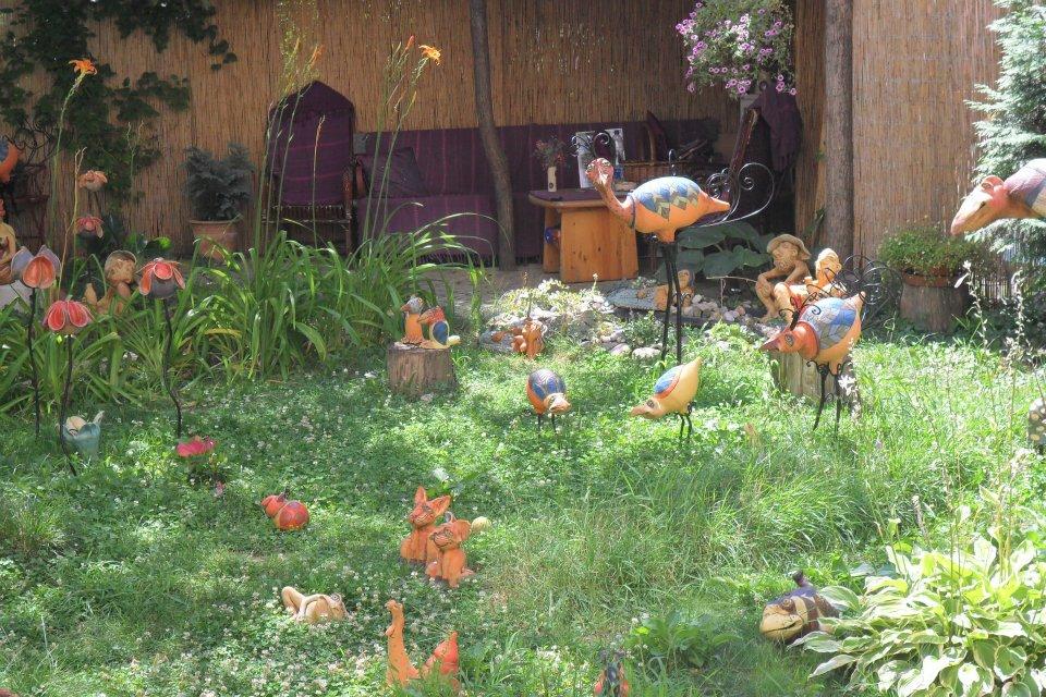 Solo Travel in Hungary Artist garden