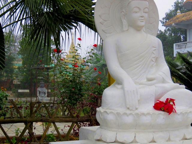 Solo travel in Nepal Buddha Sculptures Lumbini Nepal