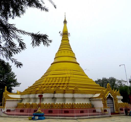 solo travel in nepal Golden Stupa Lumbini Nepal