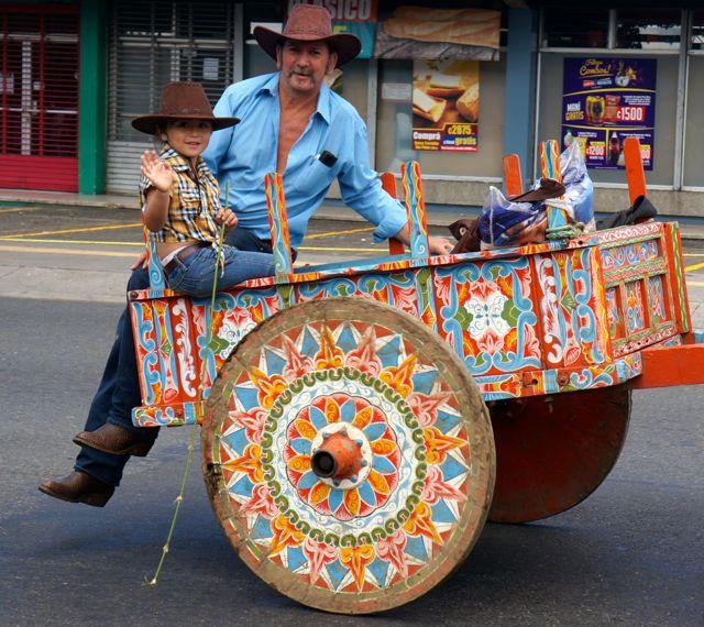 san jose oxcart parade- family