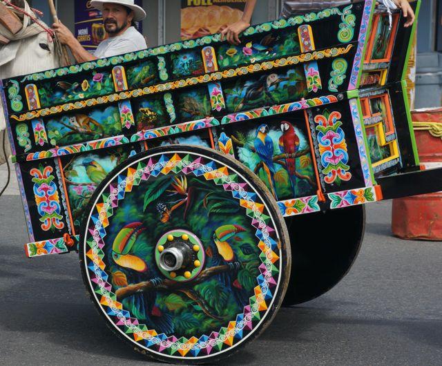 san jose oxcart parade- ornate oxcart