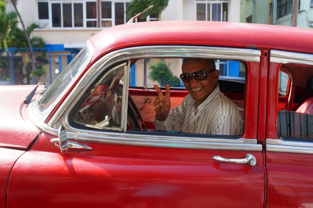 havana tour red chevy classic car