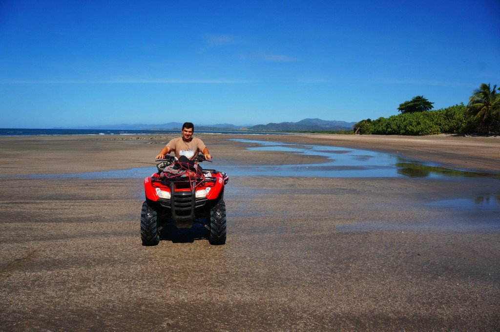 Diego on an atv rental in santa teresa