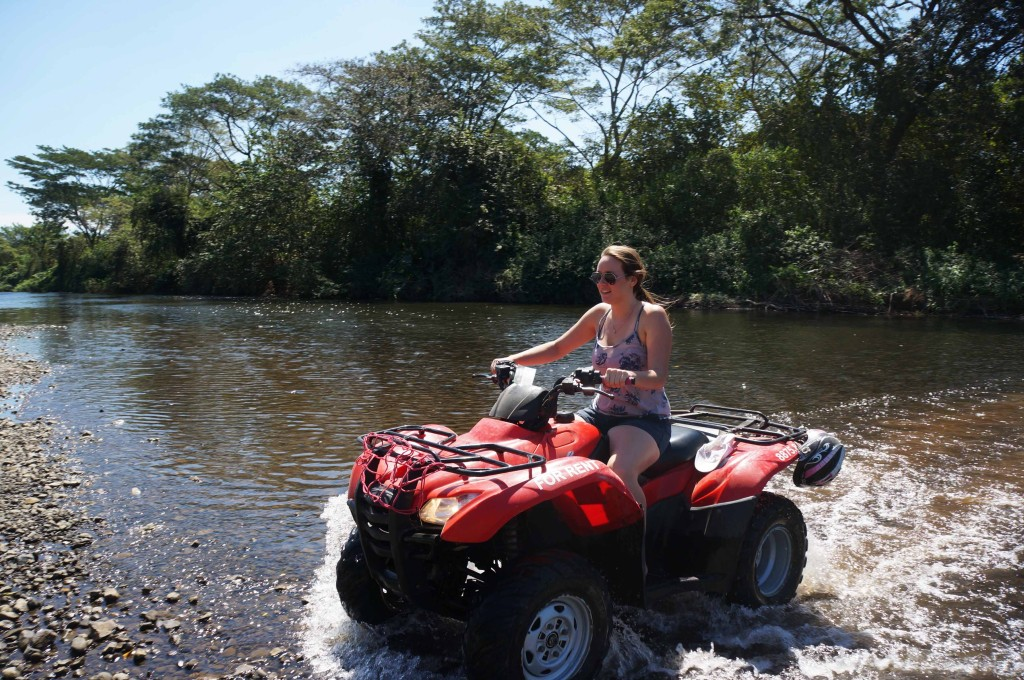 forging a river on an atv rental in santa teresa