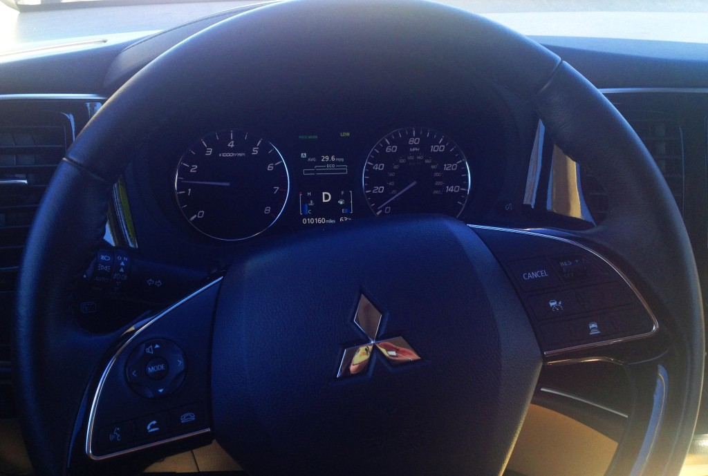 mitsubishi outlander steering wheel