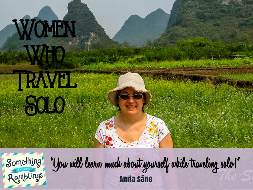 women who travel solo Anita Sāne