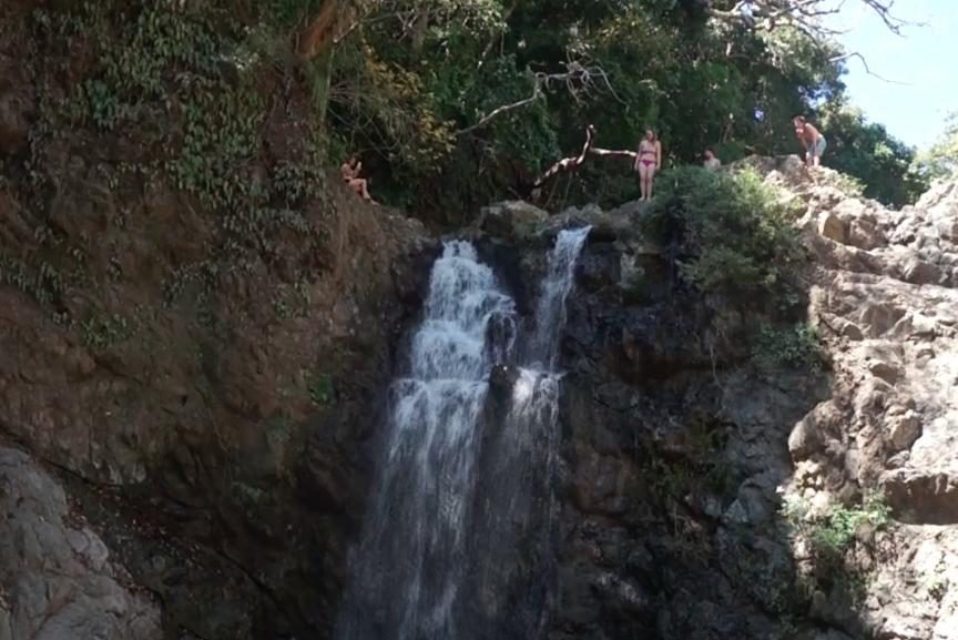 Ready to jump waterfalls in montezuma