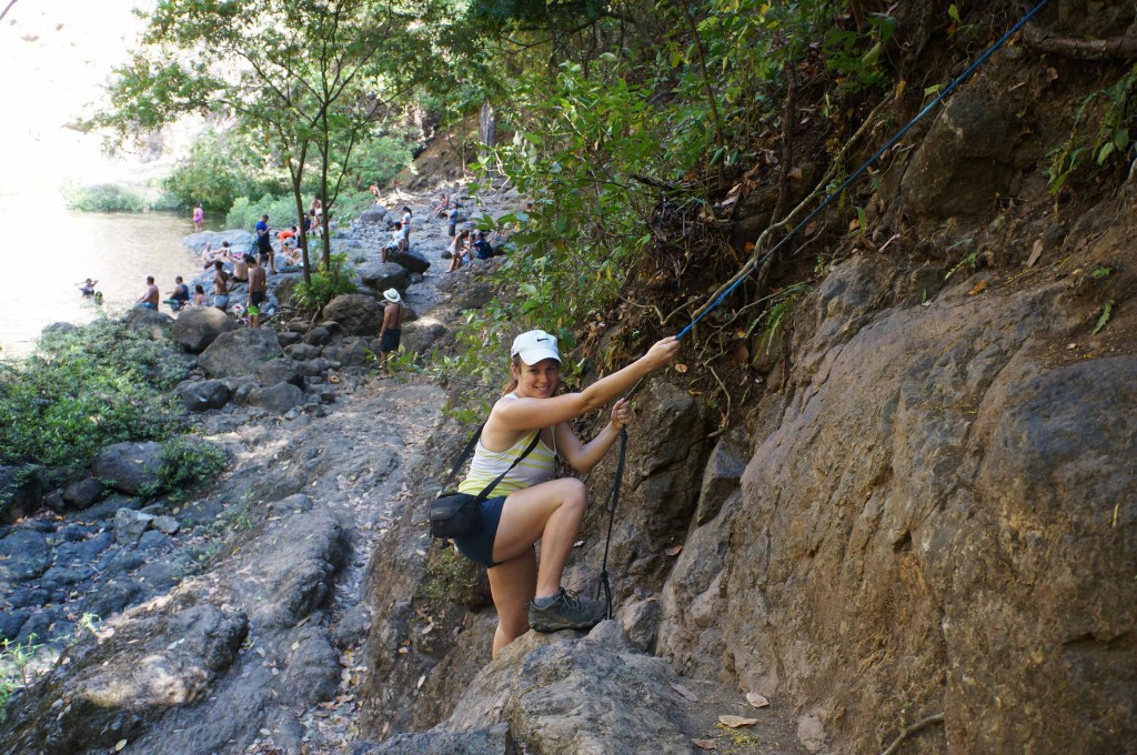 be prepared to climb to waterfalls in montezuma