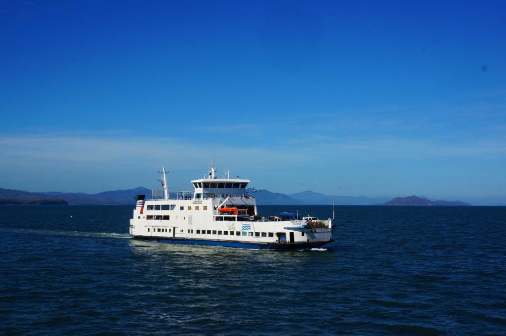 ferry to waterfalls in montezuma