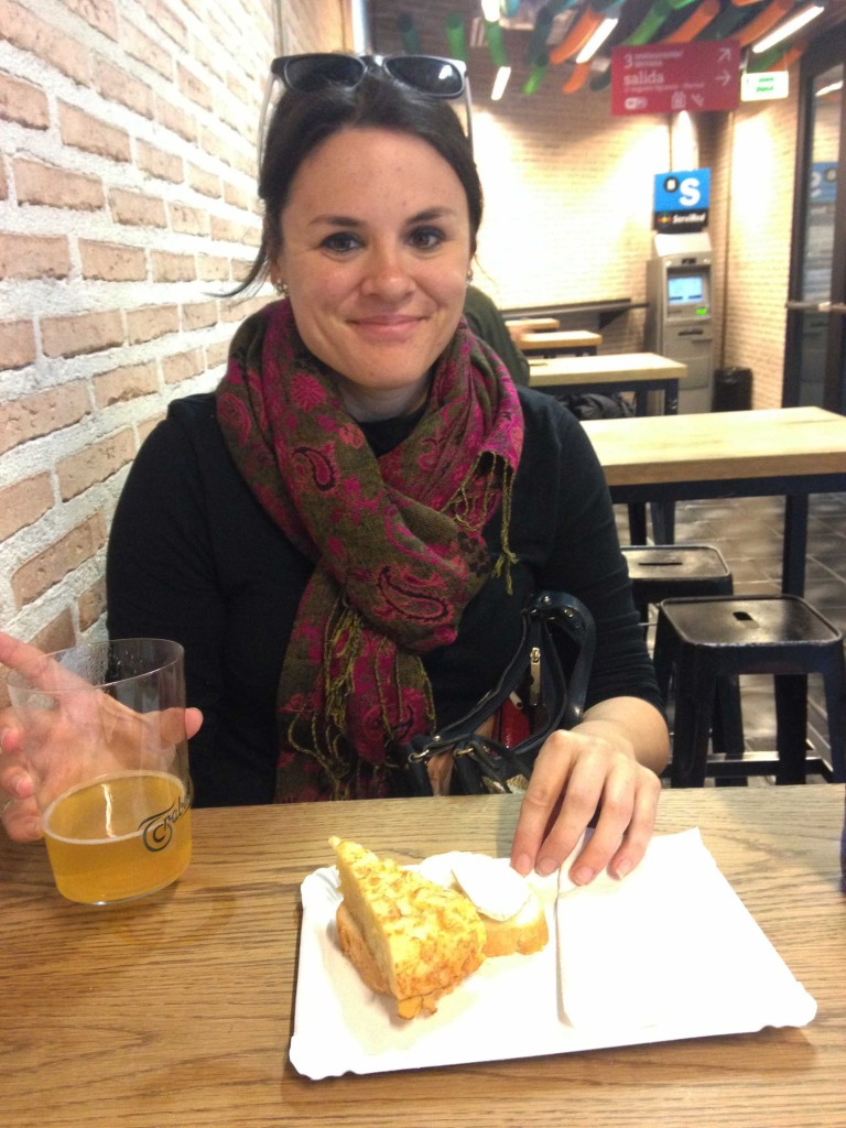 solo travel in spain eating tortilla