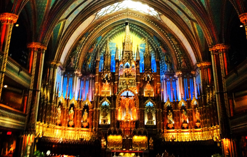 family trip to montreal- cathedral of montreal