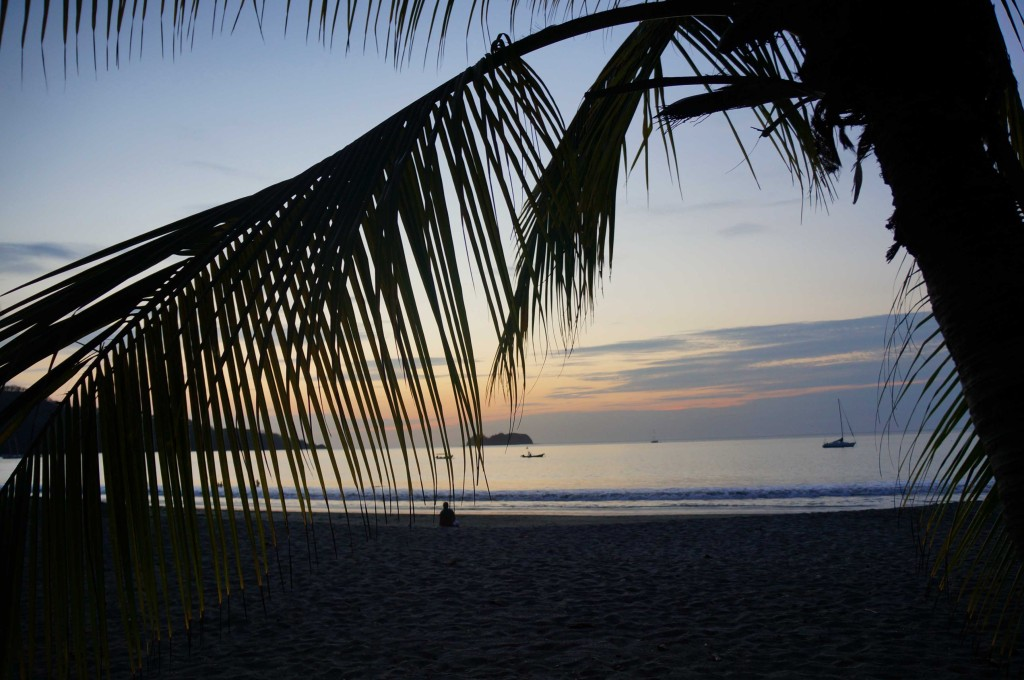 sunset at playas del coco