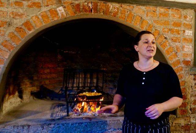Cristina teaches how to cook empanadas in Argentina