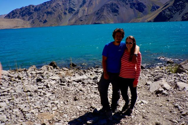 Gonzalo leades a visit to the andes in Chile