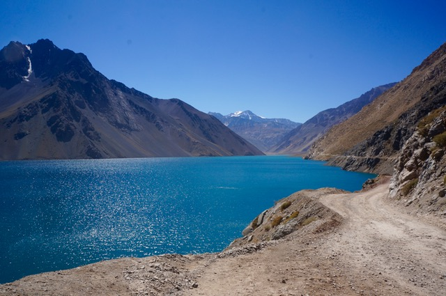 lake in the andes in Chile