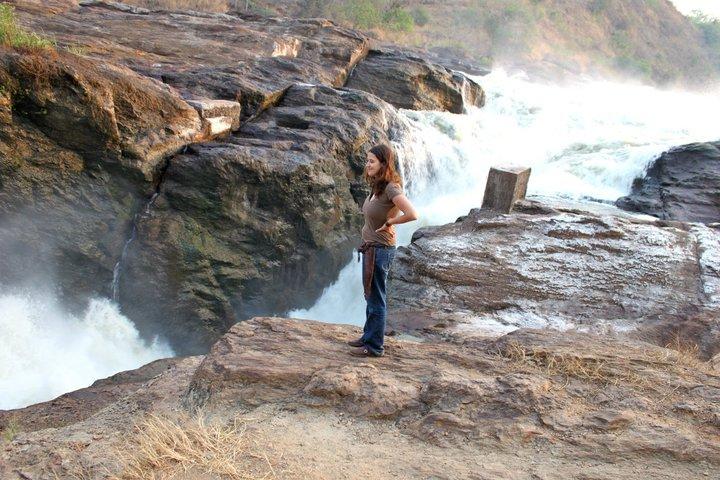 solo travel in uganda waterfall