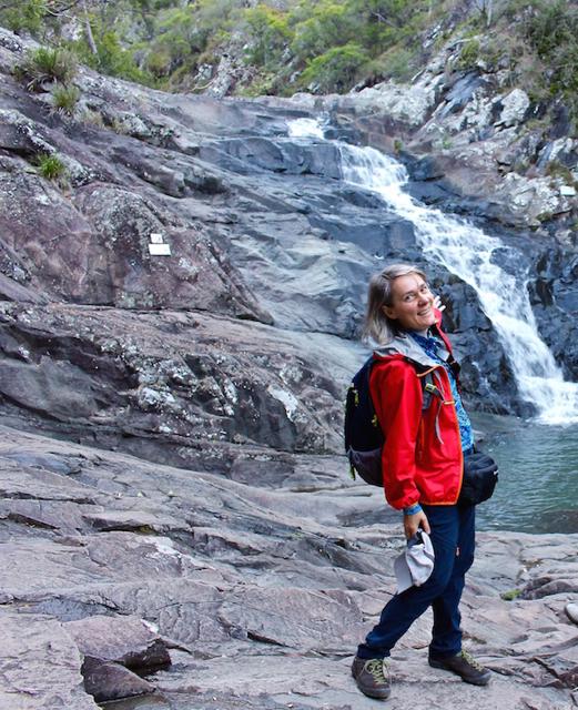 solo travel in australia waterfall