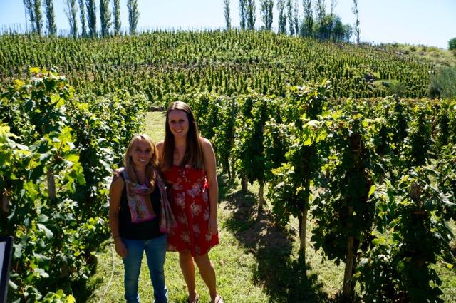 visiting the wineries of mendoza- laura and lauren