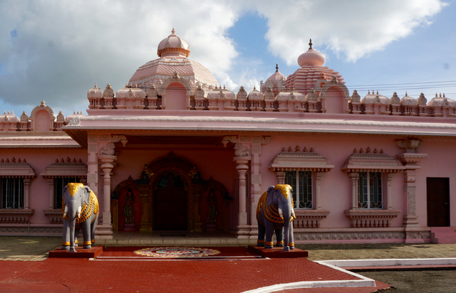 pink temple trinidad Indian Influences in the Caribbean