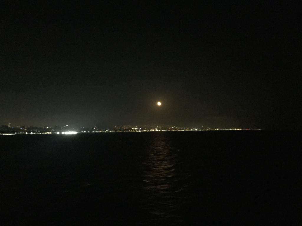 istanbul ferry night