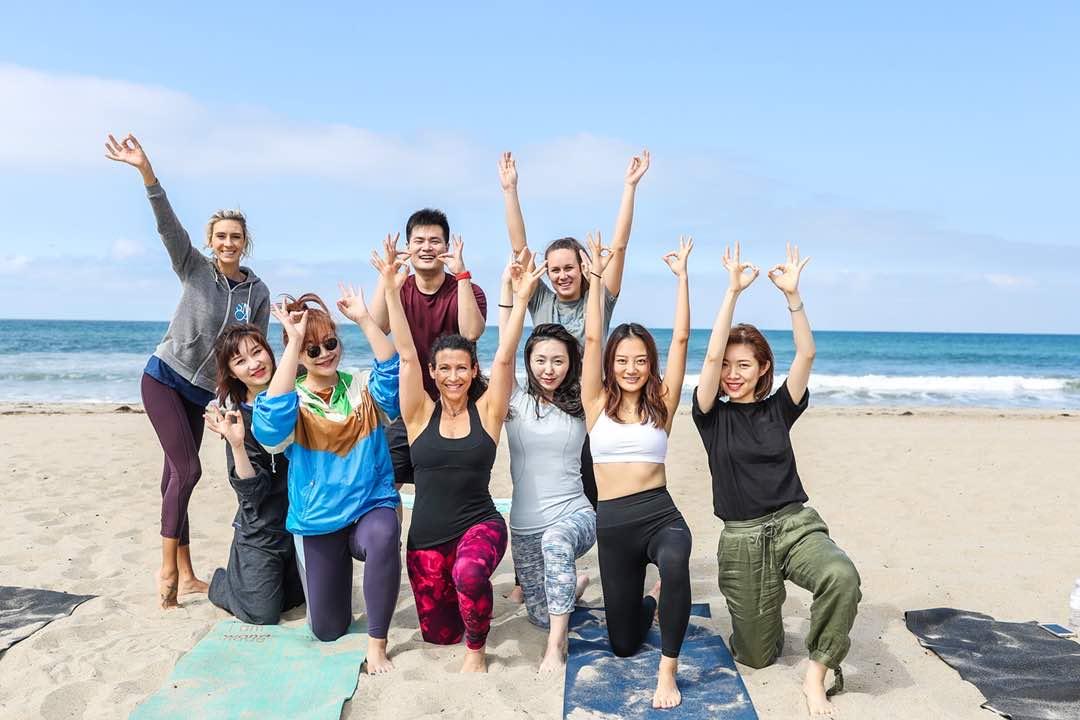Something in Her Ramblings Beach Yoga