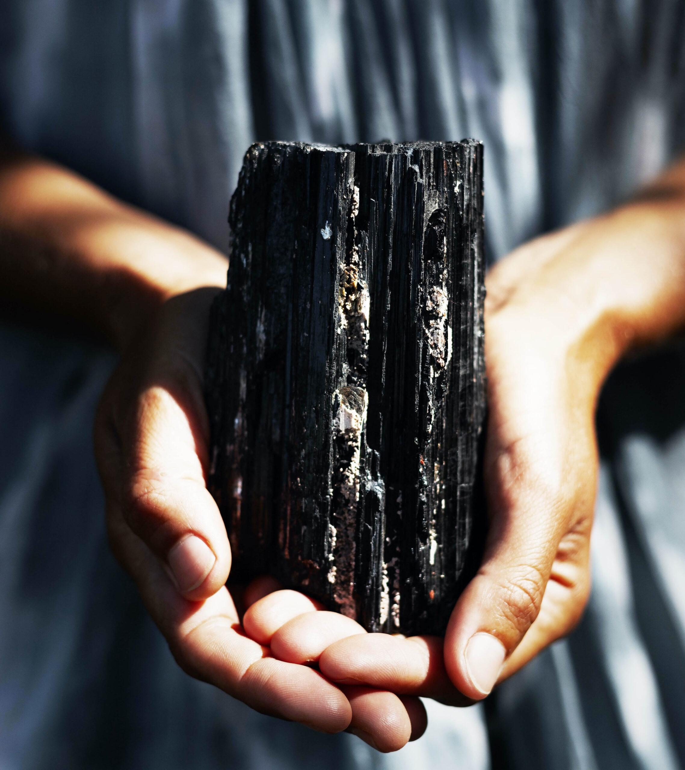 tourmaline black crystals