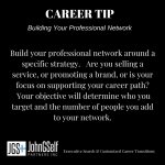CAREER TIP:  Building Your Professional Network