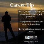 CAREER TIP:  Don't Be An Echo