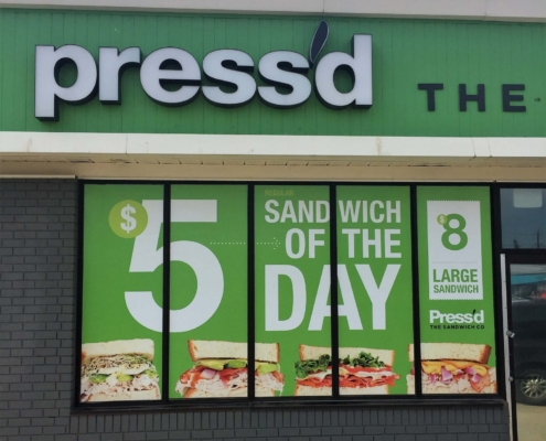 Pressed Sandwiches Window Graphics