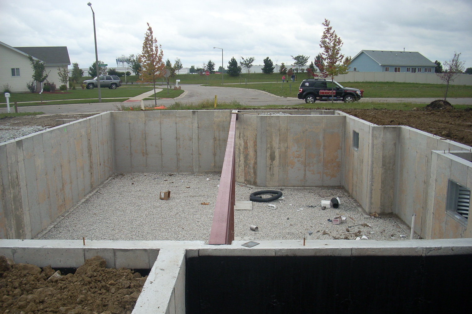 foundation poured for house rebuild