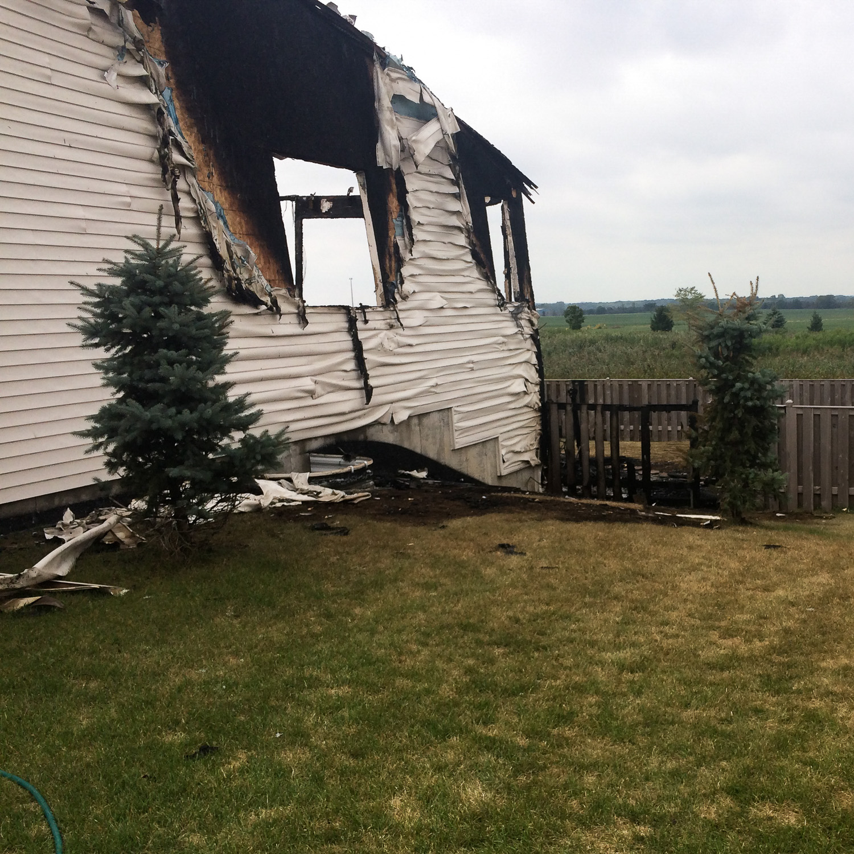 fire damaged house before restoration