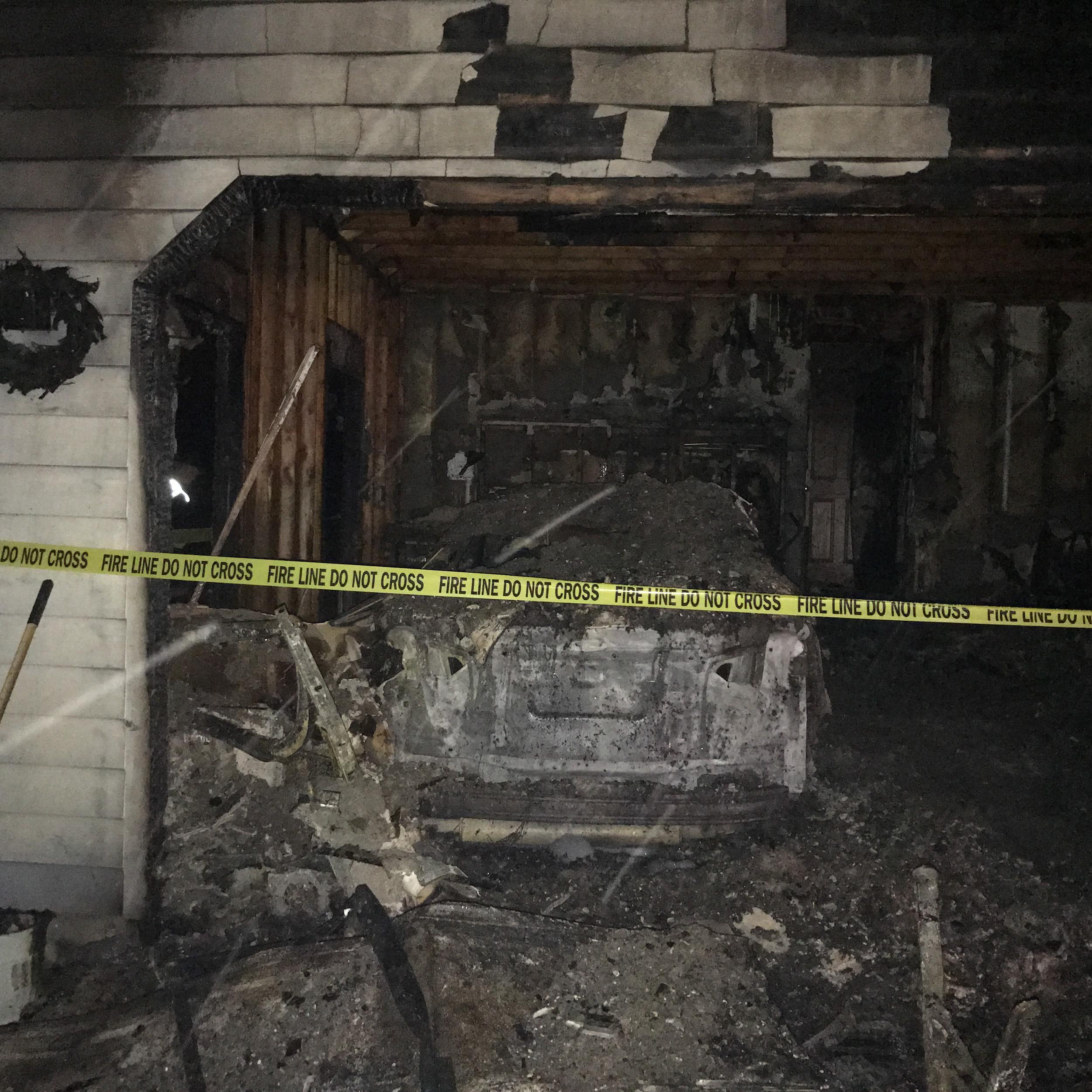 garage fire - garage before damage restoration