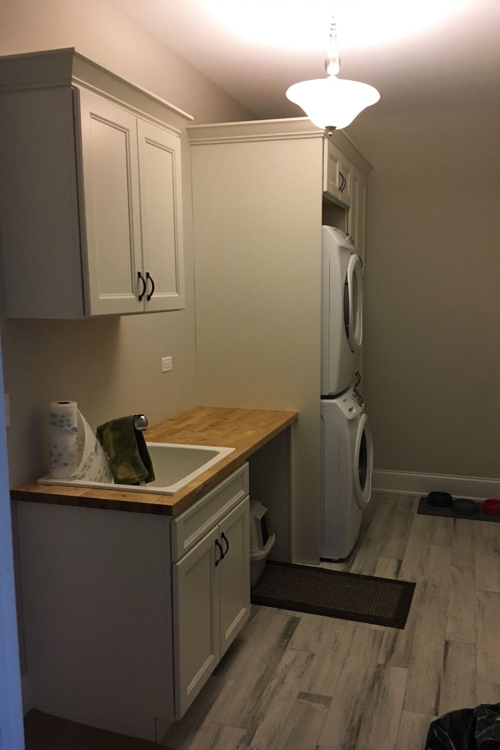 Laundry room after fire restoration