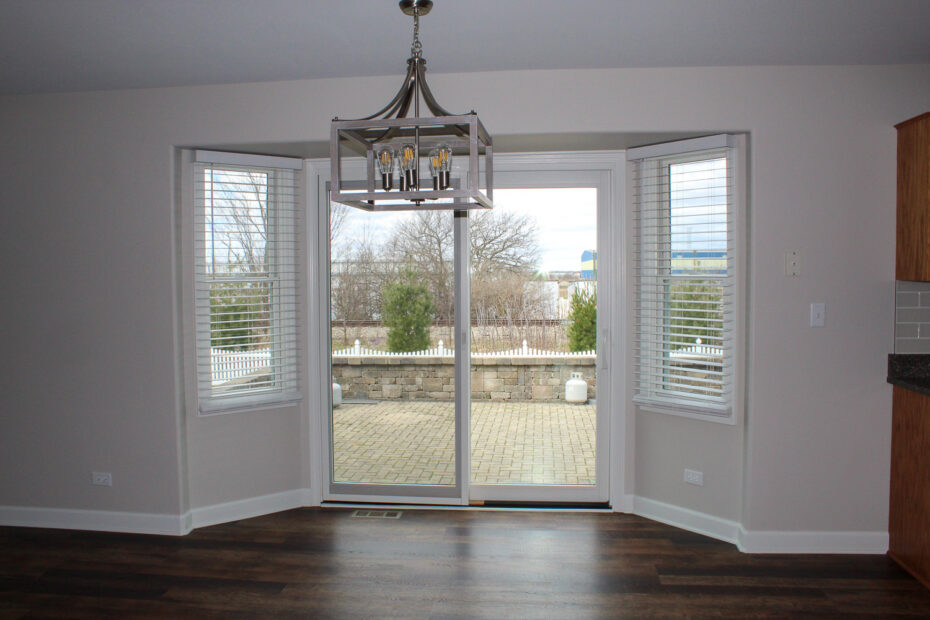 sliding glass door after restoration