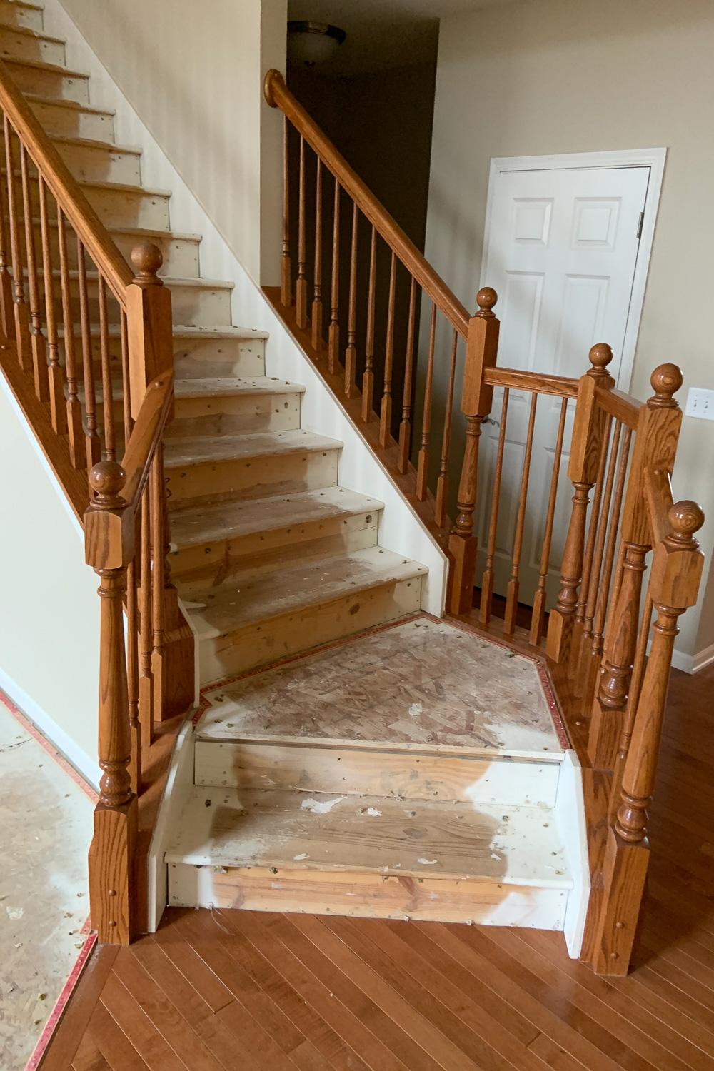 Stairs before fire restoration
