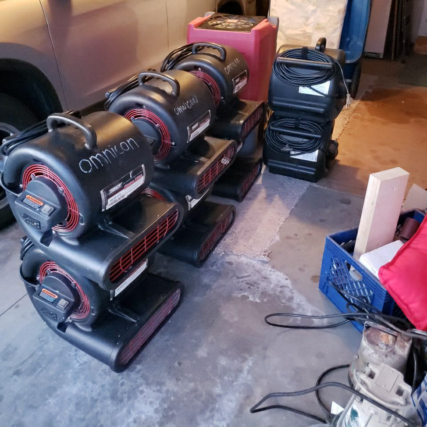 fans used for water damage restoration