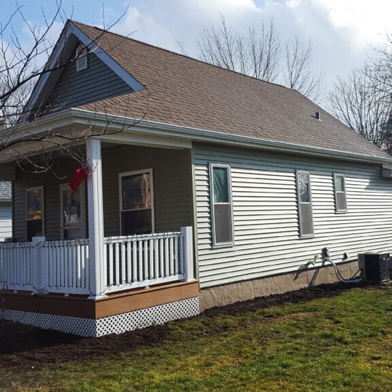 house after completed wind damage restoration
