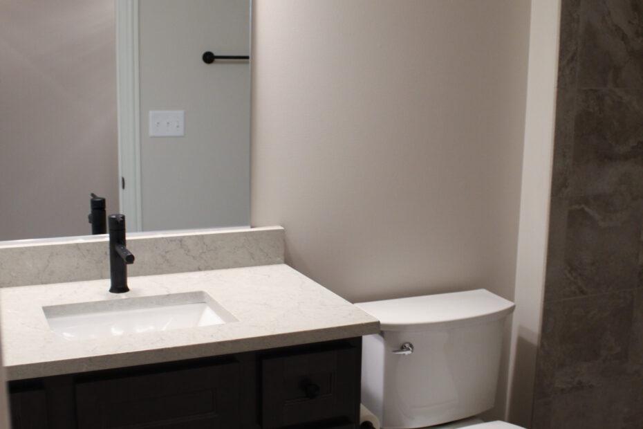 bathroom after fire restoration