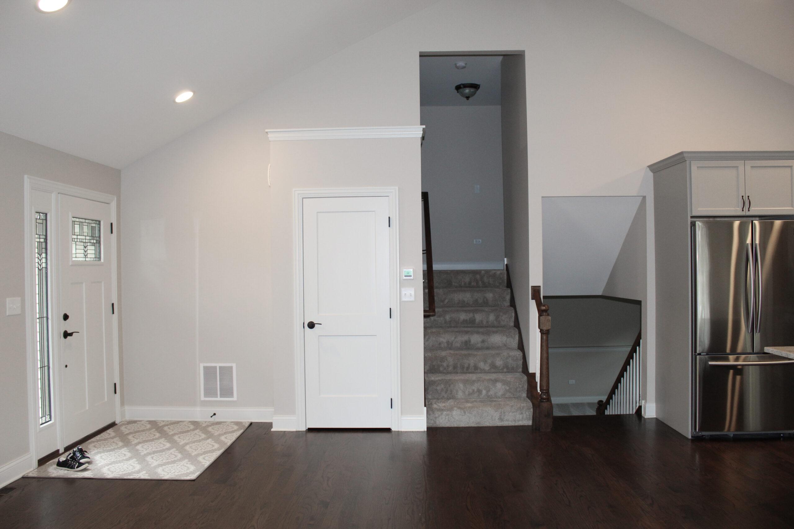 living area after fire restoration