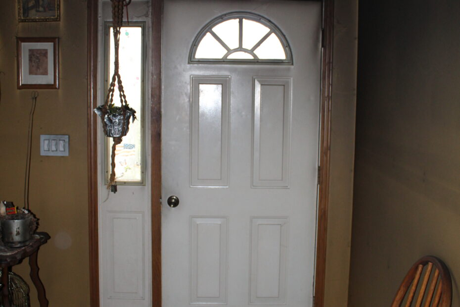 front door before fire restoration