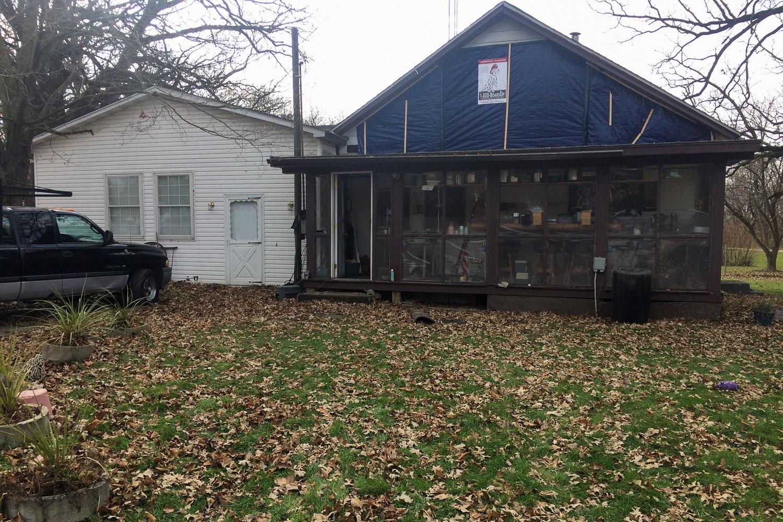 home exterior before home restoration