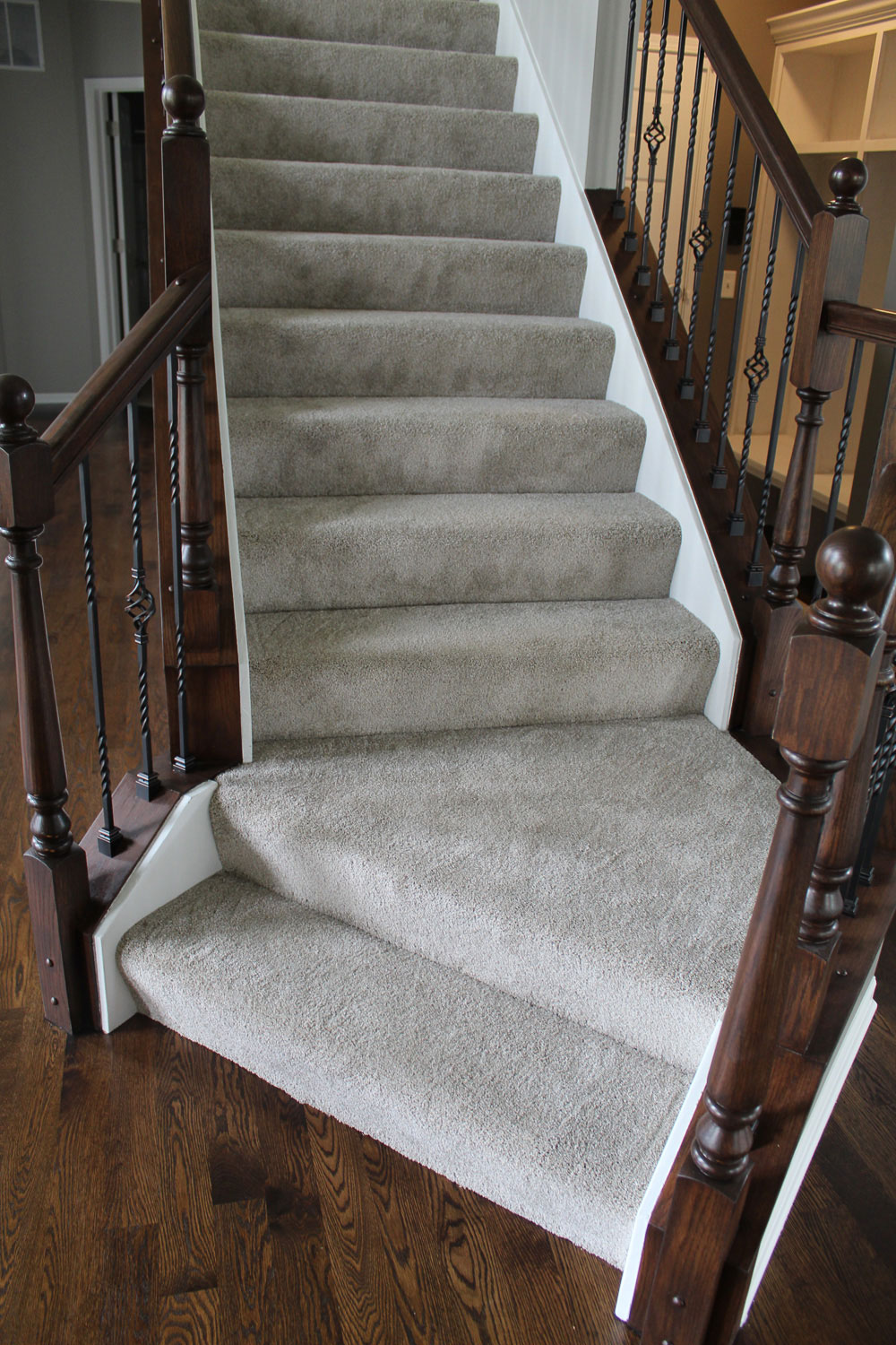 staircase after home restoration