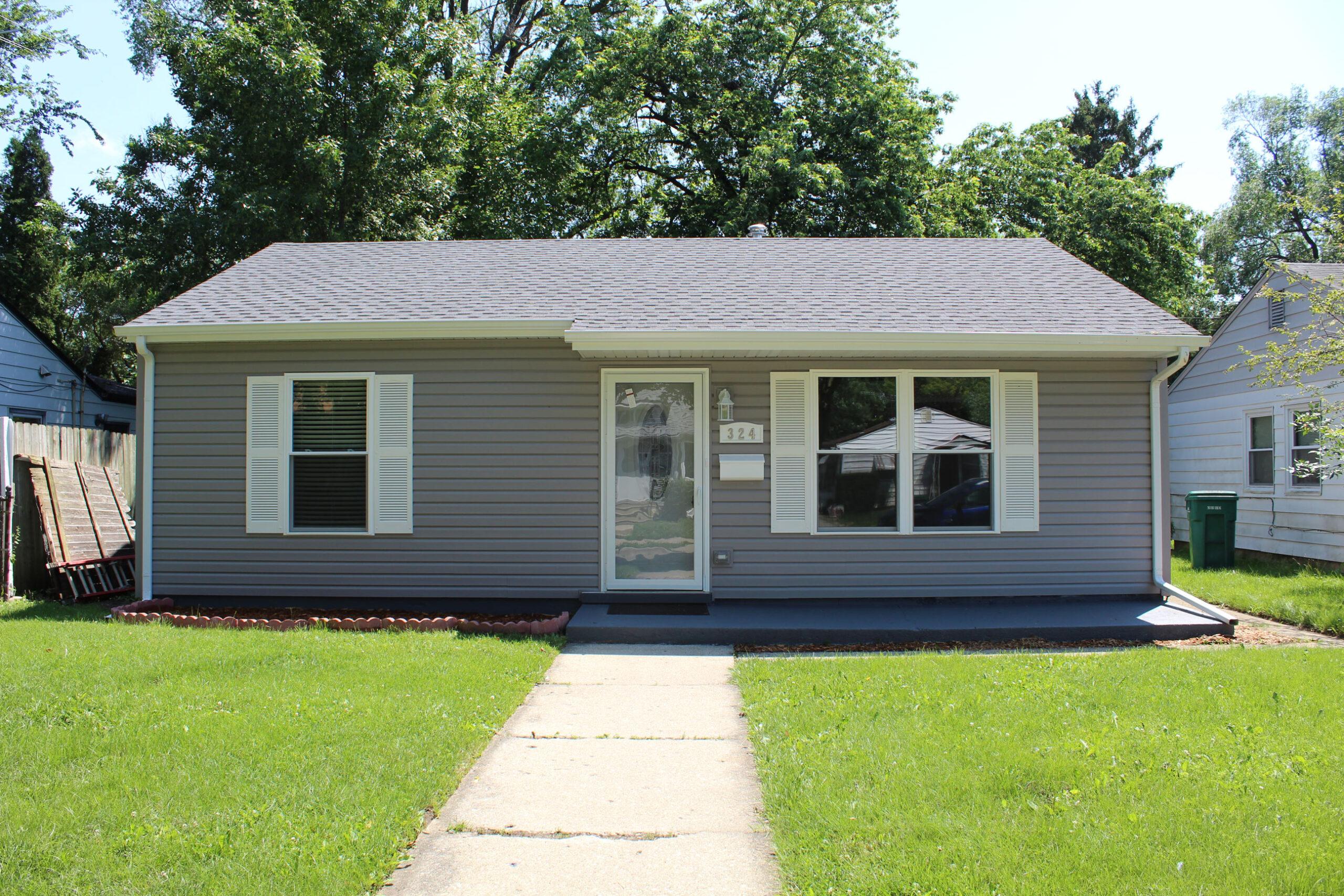 home exterior after restoration