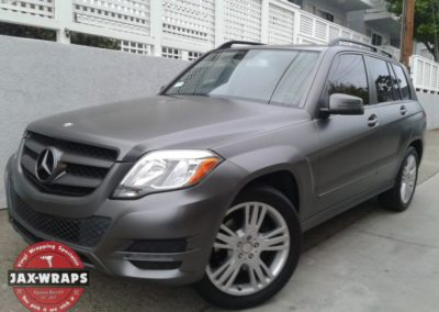 Satin Dark Grey Mercedes GLK 350