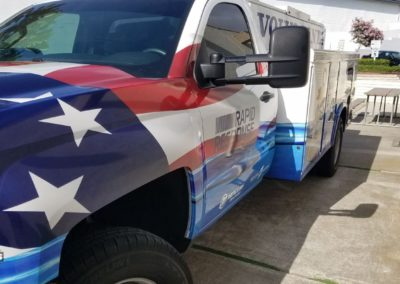 Marine Mechanic Utility tool box commercial truck vinyl wrap american flag 2
