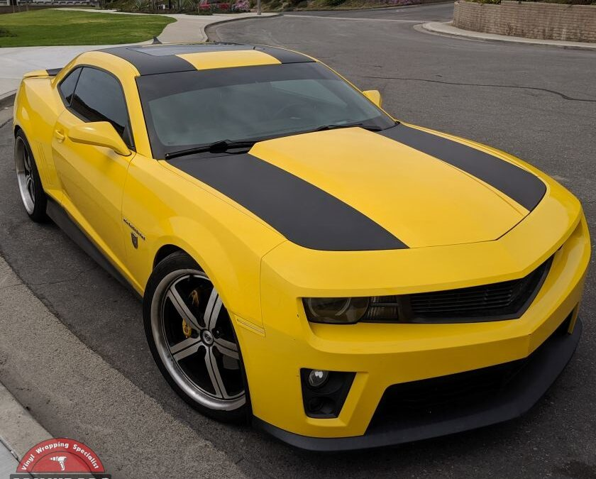Camaro SS with Matte Black Stripes